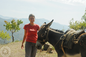 Laetitia and donkey Gaspare